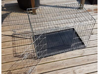 Large Dog Crate - folds flat for transport 92x62x57cm