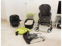 Silver Cross Wayfarer 3 in 1 Travel System Lime Green, Black Simplicity Car Seat