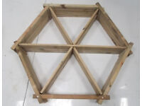 Hexagon Planter (Wagon Wheel)