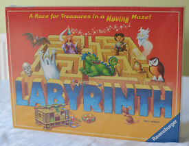 *New* Ravensburger Labyrinth Maze Treasure Race Kids Family Board Game