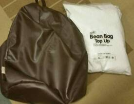 Brown beanbag