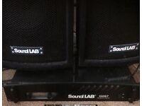 "Amplifier & 8"" Speakers"