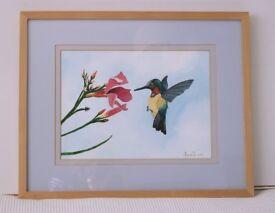 Wall Art - Two Original Watercolour Paintings