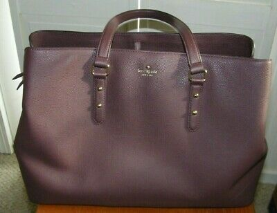 kate spade New York large Evangelie Larchmont Avenue Chocolate Cherry Mahogany