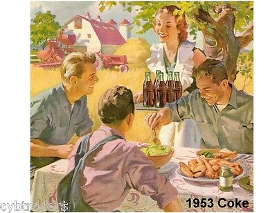 1953 Coke Cola Refrigerator / Tool Box Magnet