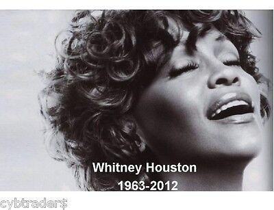 Whitney Houston Memorial Refrigerator / Tool Box Magnet