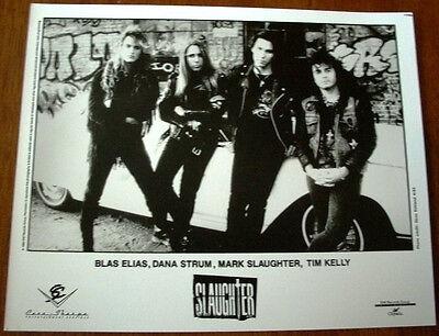 Slaughter 8x10 B&W Press Photo EMI 1992 Mark Slaughter