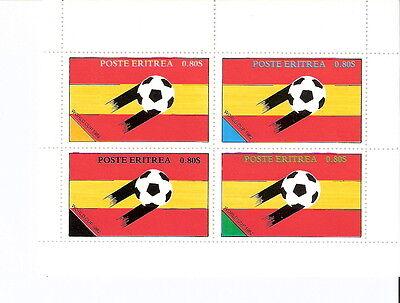 Eritrea 1982 World Cup Soccer Championships Souvenir Sheet MNH
