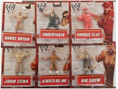 wrestling action figure set completo Mattel Undertaker Del Rio Bryan Cena BigSho