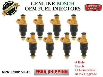 Ford F-150 4.6/5/5.4/5.8L Reman 8unit Fuel Injectors 4Hole+MPG UPGRADE OEM (1997 Ford F150 Mpg)