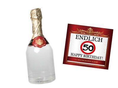 Geldgeschenk 50.Geburtstag befüllbare Sektflasche Geschenke Verpackung