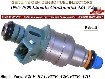 Lincoln Continental Fuel Injector - 1 Fuel Injector OEM DENSO for 1995-1998 Lincoln Continental 4.6L V8 #F2LE-B2A