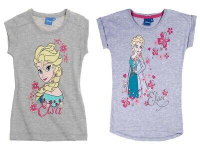 Disney Frozen Eiskönigin  Sommer T Shirt grau 98 104 116 128 140 NEU online kaufen