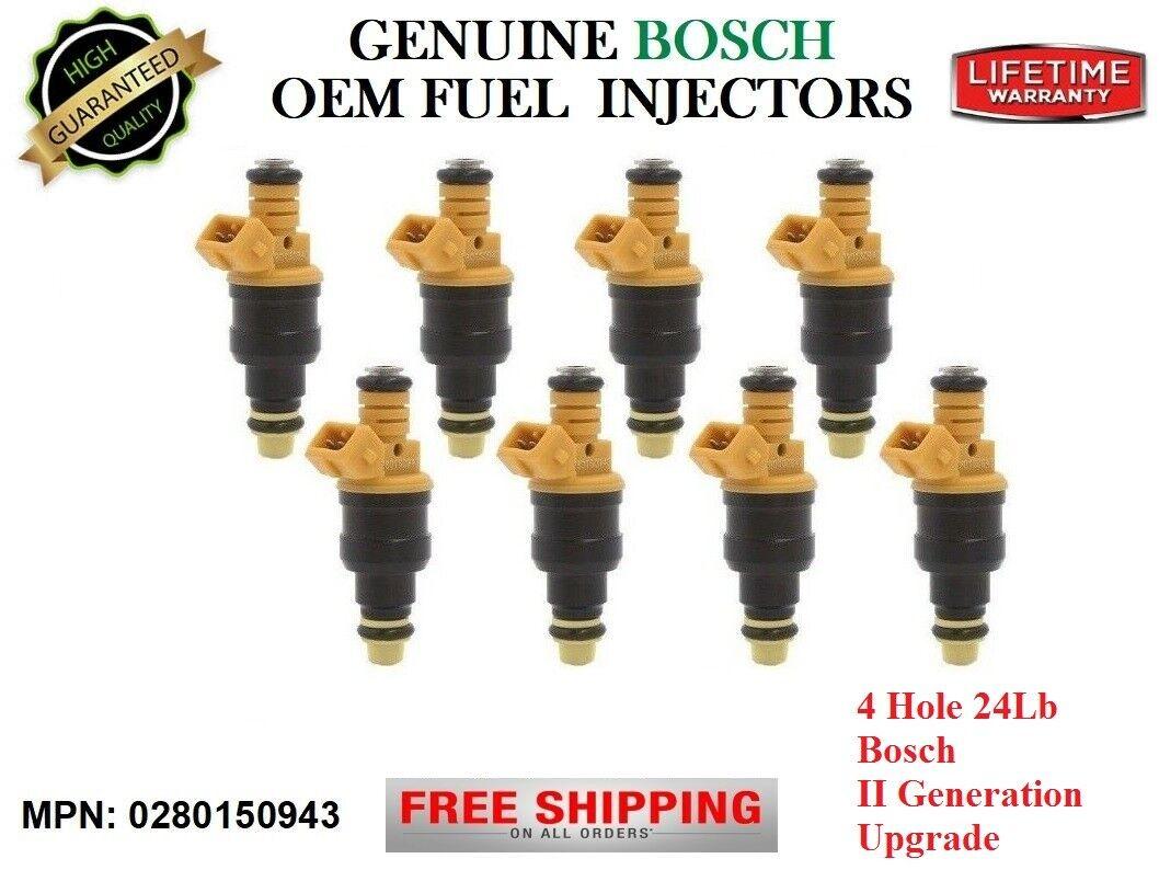 <8> Fuel Injectors [Ford E-450 Econoline SD] OEM Bosch II-Gen 4Hole Upgrade 24Lb