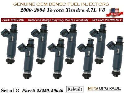 8 Fuel Injectors MPG UPGRADE OEM DENSO for 2000-2004 Toyota Tundra 4.7L - Toyota Tundra Mpg