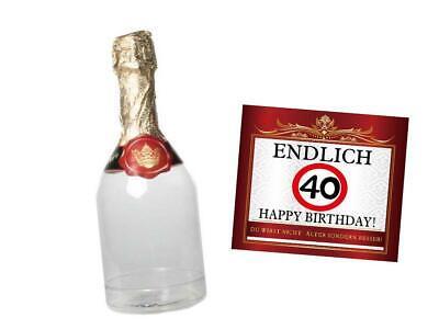 Geldgeschenk 40.Geburtstag befüllbare Sektflasche Geschenke Verpackung
