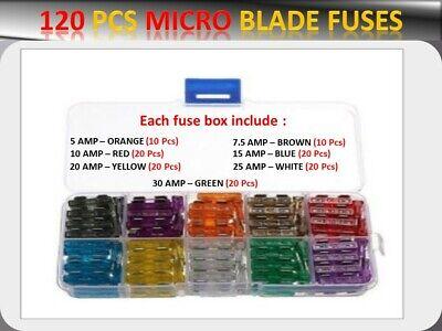 CAR BLADE FUSE REPLACEMENT Standard Fuse Box Kit 5 10 15 20 25 30 AMP Yaris Verso 99