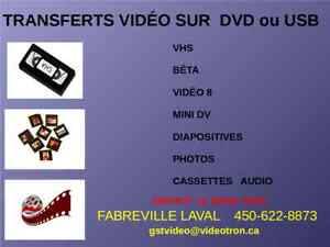 Cassettes video sur DVD ou USB