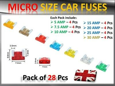 for car motorbike van UK New 2A standard fuses pack of 1 2 AMP blade fuses