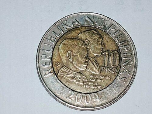 Philippines 10 Piso Commemorative Coin 2004,  A.Mabini and A.Bonifacio