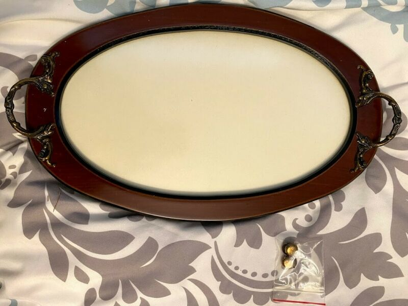 "New Old Stock Framecraft Minatures Wood Oval Tray for Crossstitch 11""x6.25"""