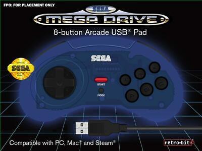 Retrobit - SEGA Mega Drive manette filaire 8 boutons - Connexion USB...