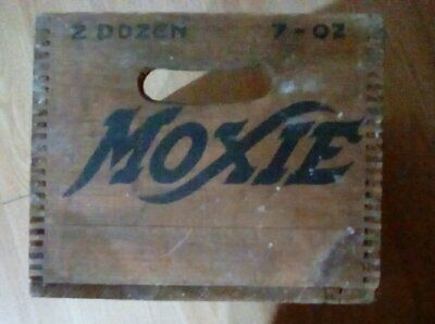 """MOXIE"" beverage wooden box--9"" X 11"" X 16""--very good condition-VINTAGE ITEM"