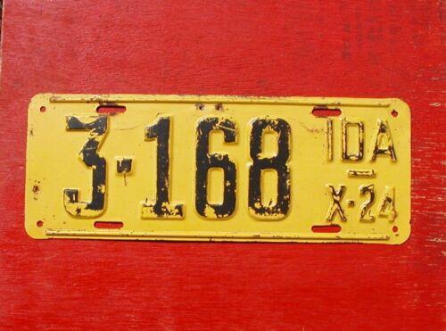 1924 Idaho Original 3-168 License Plate