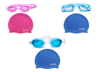 CRG swimming goggle and cap (Kids) - Cap And Goggles