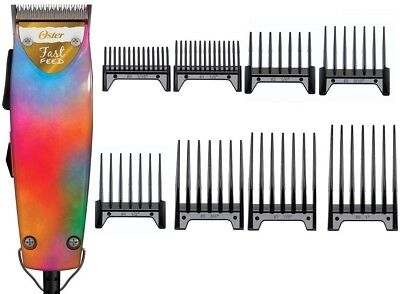 Oster Fast Feed Vibrant Colors Limited Edition Professional Clipper + 8-PC Combs