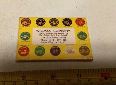 Vintage Wigman Company Sioux City Iowa Advertising Pocket Mirror