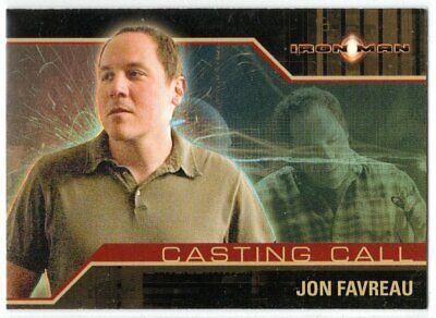 IRON MAN MOVIE CASTING CALL CC9 JON FAVREAU AS DIRECTOR INSERT CARD