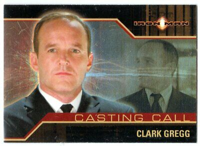IRON MAN MOVIE CASTING CALL CC8 CLARK GREGG AS AGENT PHIL COULSON INSERT CARD