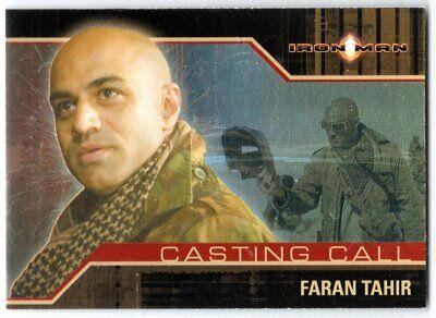IRON MAN MOVIE CASTING CALL CC5 FARAN TAHIR AS RAZA INSERT CARD