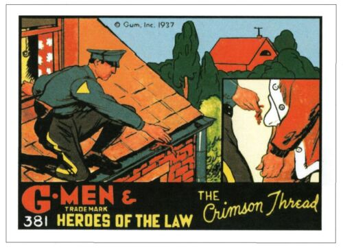 NEW JERSEY STATE POLICE - 1937 G-Men Collector Card #381 reproduction