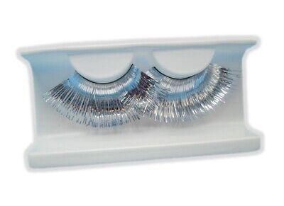 Metallic Silver Extra Long Eyelashes Halloween Disco False Lashes With