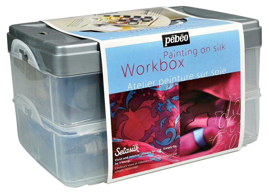 Pebeo Setasilk Permanente Colore per Tessuto Kit Set Assortiti & Accessori