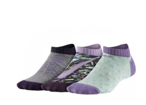 Girl's Nike 3-Pack No-Show Socks, Size Small - Purple