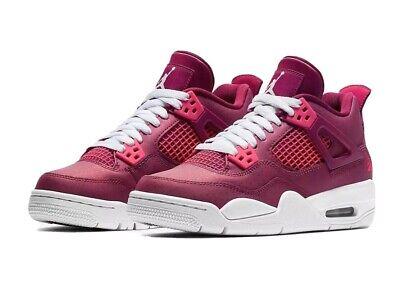 Air Jordan 4 Retro Gs 487724 661 Berry True Nike Pink Shoes New Size White Love
