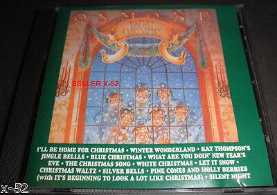 THE OSMONDS Donny & Marie OSMOND Family CD Blue X-mas SILENT NIGHT SIlver Bells Donny Marie Osmond Family
