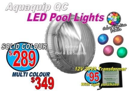 "Aqua-Quip Multi-Colour LED Pool Light - All voltages ""FREE GIFTS"""