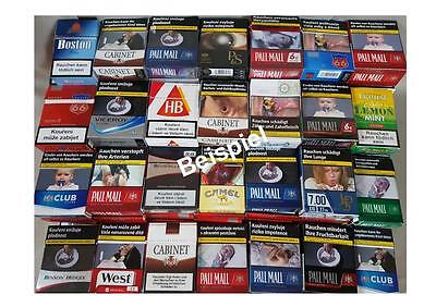 50 leere Zigarettenschachteln - für Schachtelkranz oder Basteln