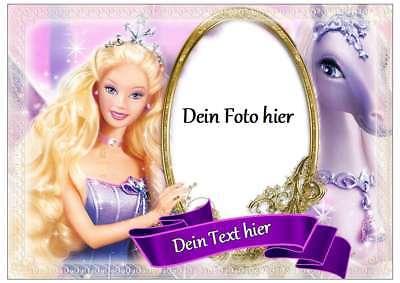 Tortenaufleger Barbie-Prinzessin - Rechteckig 28 cm x 20 cm - Geburtstag - Party