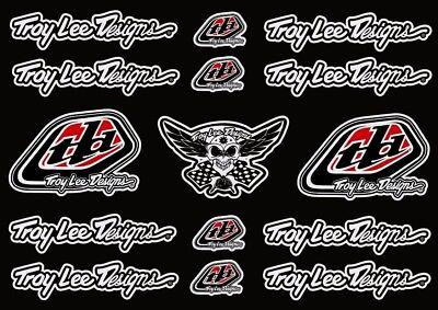 Troy Lee Designs Bike Bicycle Frame Decal Stickers Graphic Adhesive Set Vinyl #2