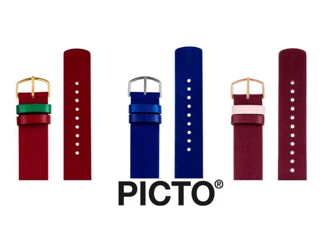 Picto Leder Uhrenarmband
