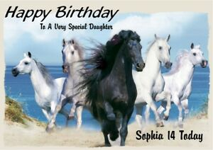 Personalised Horse Birthday Card Any Name Age Relation