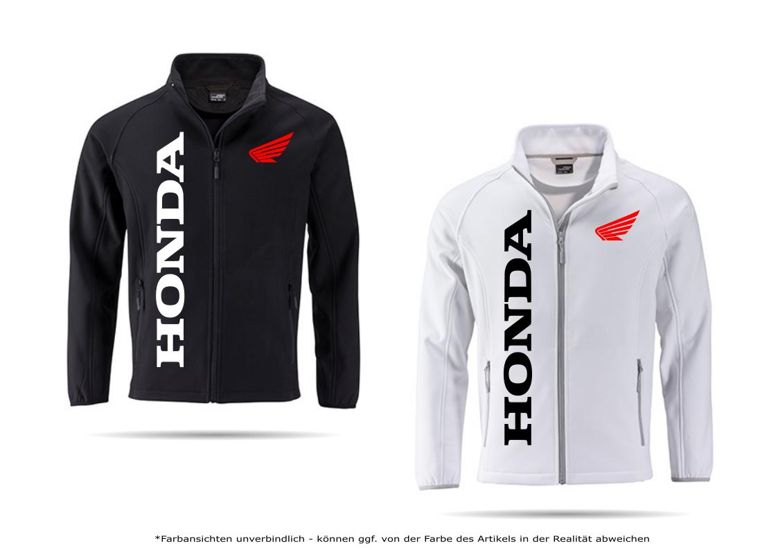 Honda Motorrad Softshelljacke Jacke Hoodie Pullover Übergangsjacke Tuning Winter