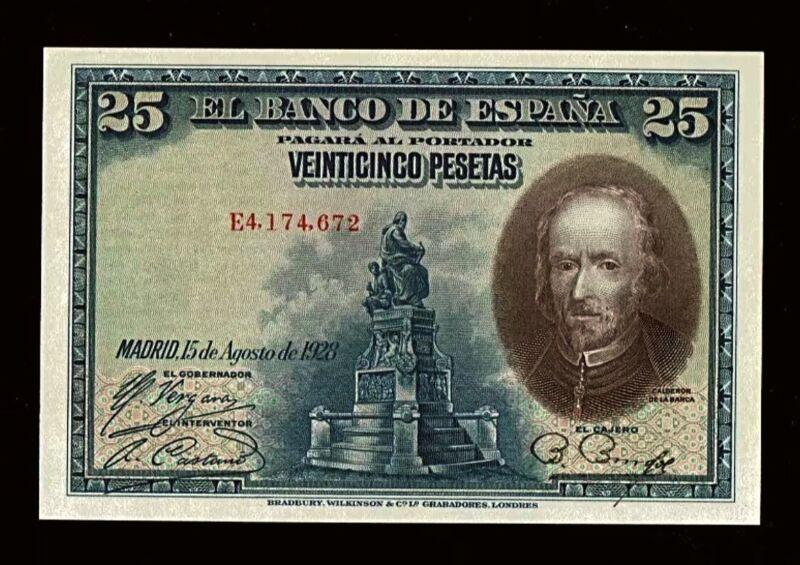 SPAIN | 1928 | 25 pesetas | Pick # 74b | UNC