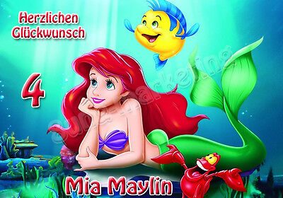 28x20cm o. 40x28cm Tortenaufleger Disney Ariel Tortenbild Fototorte  Geburtstag