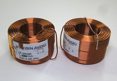 Jantzen Air Core Inductors 2.2mh 18awg - One Pair